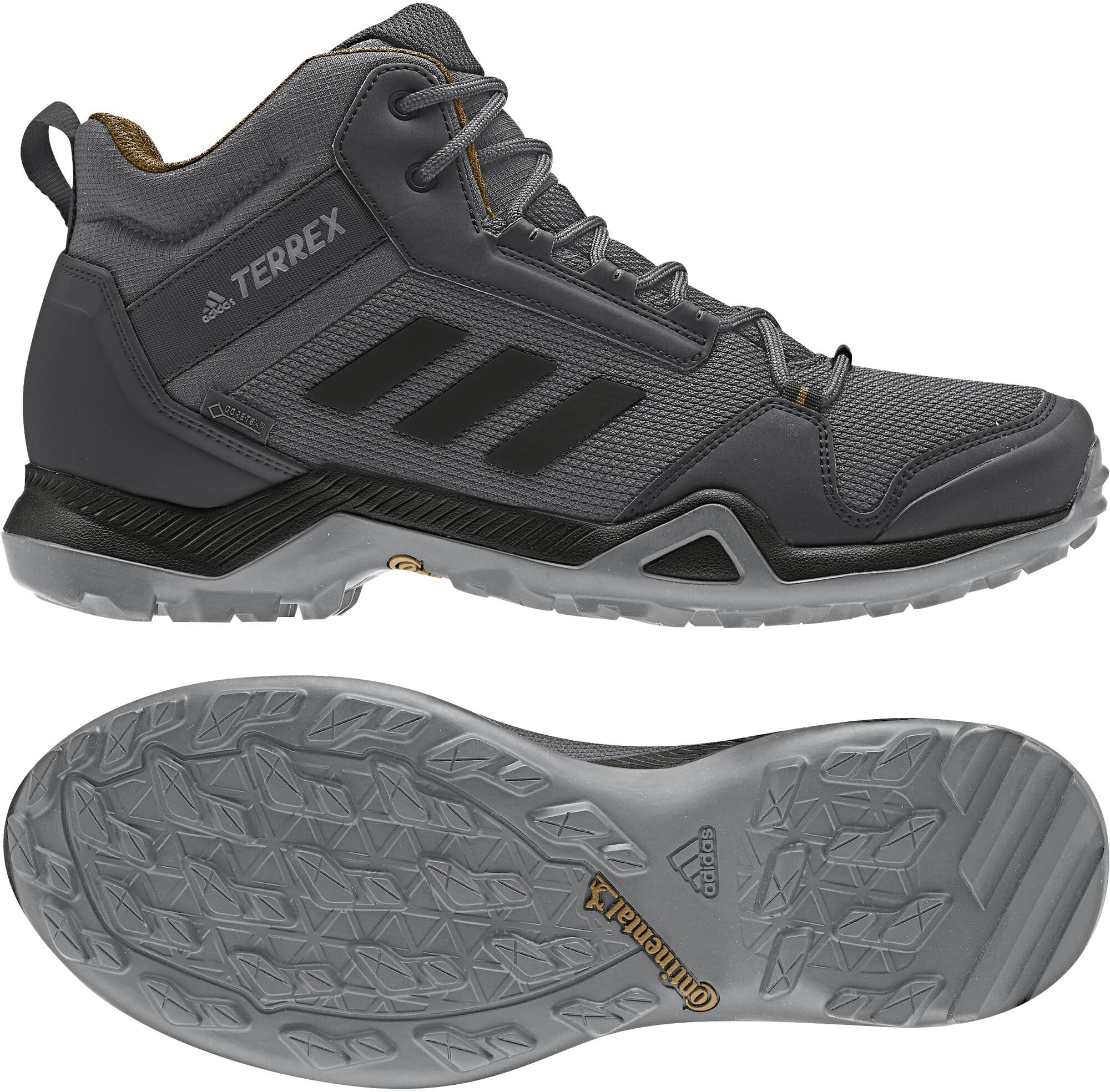 partes ayudar Campeonato  adidas TERREX AX3 Mid Gore-Tex Hiking Shoes Waterproof Men grey five/core  black/mesa at addnature.co.uk